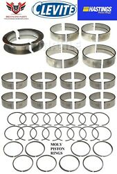 Ford 460 7.5 1992 Andndash 1997 Clevite Rod And Main Bearings With Hastings Moly Rings