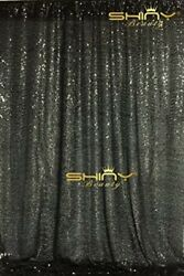 ShinyBeauty Black Wedding Party Photography Backdrops 10FTx10FT Gltter Shower