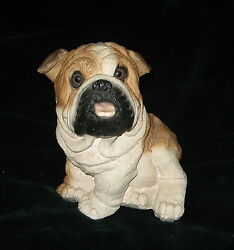 VINTAGE LARGE SITTING BULLDOG STATUE CLASSIC CRITTERS