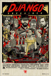 Django Unchained By Tyler Stout - Wood Variant - Sold Out Mondo Print