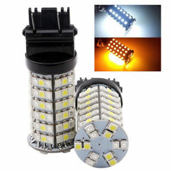 50Pcs 3157 1210 120SMD Dualcolor Switchback White Amber LED Turn Tail Lights D2