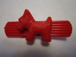 Scottish Terrier Red Plastic Pin