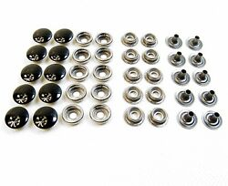 Snaps Stainless Steel Cap Socket Stud And Eyelet Line 24 Standard Size