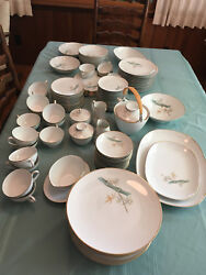 Noritake China Service For 12, Oriental, 6341, Antique, Serving Items Included