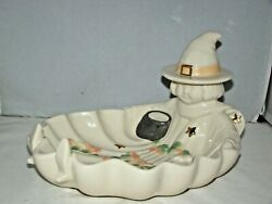 Lenox Occasions Porcelain Halloween Witch Candy Dish 10 X 8 Mint