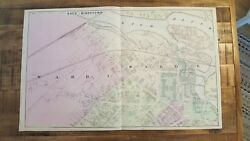 Antique Colored Map/saco And Biddeford 2, Maine - / Atlas York County, Me - 1872