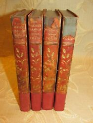 Lot Of 4 Antique Books The Earthly Paradise, By William Morris - 1905