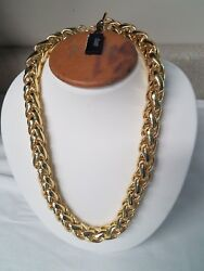 1ar By Unoaerre - 18kt Gold Plated Herringbone Link Necklace