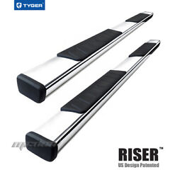 Tyger Riser 4inch Stainless Steel Side Step Nerf Bar Fit 19-21 Ram Crew Cab