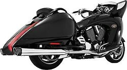 Freedom Racing Dual Exhaust-blk For Victory Cross Country/roads 10-14 Mv00018