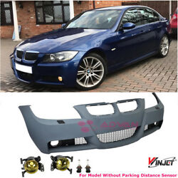 M3 Style Front Bumper Yellow Fog Lights For 06-08 BMW E90 3-Series Sedan NO PDC