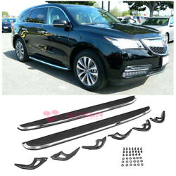 Factory Aluminum Black Running Boards Side Step Nerf Bars For 14-18 Acur
