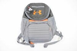 UNDER ARMOUR UA HEAT GEAR UNDENIABLE STORM 3.0 GRAY ORANGE BACKPACK BAG MENS NWT