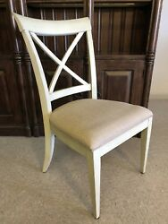 4 Drexel Heritage Gourmet Dining Gray X Side Chairs Set 587-721 Grey Rustic