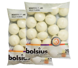 Bolsius Ivory Floating Candles Pack of 40