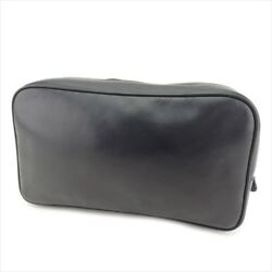 Gucci Bag Clutch bag G logos leather Black Woman unisex Authentic Used T7728
