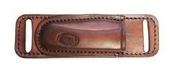 Horizontal Leather Knife Sheath For Small Of Back Carry Fits Buck 110 Knife Only