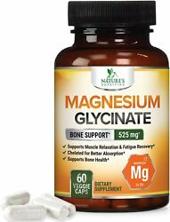 Magnesium Glycinate Capsules 525 Mg 100 High Absorption Chelated