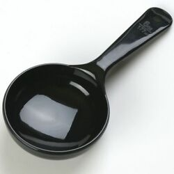 Carlisle 493003 Solid Short Handle Portion Control Spoon 6 oz Black