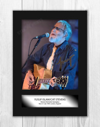 Cat Stevens Yusuf Islam A4 Reproduction Autograph Poster With Choice Of Frame