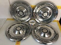 1975 1976 1977 Dodge Charger Hubcaps 14 Coronet Dart Aspen Super Clean Set Oem