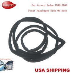 New Door Weatherstrip Moulding Seal Front Right For Accord Sedan 1998-2002