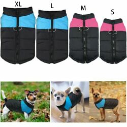 New Waterproof Small Dog Clothes Winter Warm Padded Coat Pet Vest Jacket SML XL