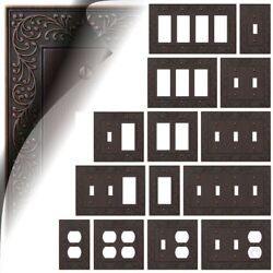 Aged Bronze Oil Rubbed Switch Plates English Garden Duplex Wallplate Toggle Gfi
