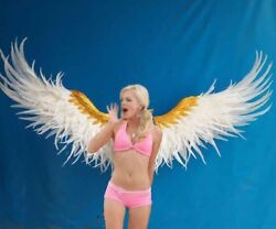 High Quality White Angel Wings Wedding Cosplay Photoshoot Stage Costume