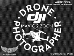 Dji Mavic 2 Zoom Drone Photographer Window Case Decal Sticker 5 Colors Available