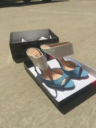 designer shoes womens 9.5 light blue and white  $45.00