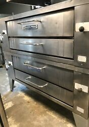 6 Pies Pizza Oven Bakers Pride Gas Double Deck Model Y600Great Condition Tested