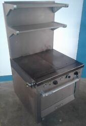 Garland Heavy Duty Commercial Natural Gas Griddle Top - Oven M46r.