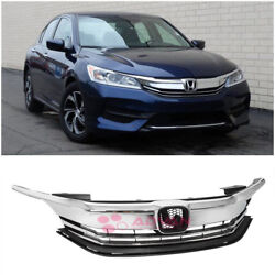 Factory Chrome Front Grille Guard Cover Upper Grill For 16-17 Honda Accord Sedan
