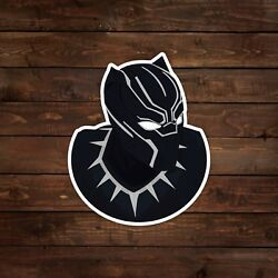 Black Panther Vector Illustration Portrait White Border Decal Sticker