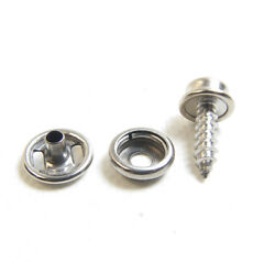 Snap Cap And Socket Stainless Steel W/ 5/8 Inch 10 Oversized Wood Screw Stud