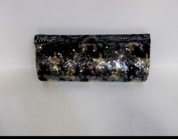 Big Buddha Evening Bag Clutch Tao Bronze Military Camo Sequins