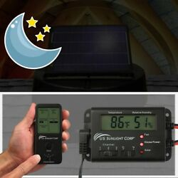 Solar Controller for Solar Attic Fan Electronic Thermostat Monitor TempHumidity