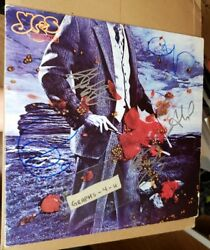 Yes Signed Chris Squire Autograph Jon Anderson Rick Wakeman Howe White Coa