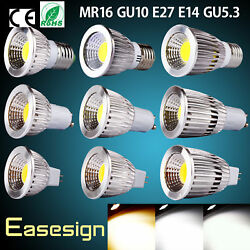 COB LED Light Bulb Spotlight Dimmable 120 Degree GU10 MR16 E27 E14 GU5.3 Lamp