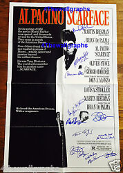 SCARFACE PACINO DE PALMA MONTANA SIGNED 27X41 FOLDED MOVIE POSTER PROOF PSA COA
