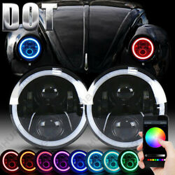 For Beetle Classic Dot Rgb 7 Inch Led Headlights Upgrade Hi/low Beam Round