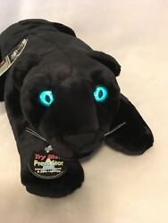 Stars In The Wild BLACK PANTHER stuffed animal plush Growls Eyes Glow!