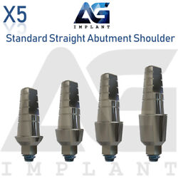 5 Standard Straight Abutment With Shoulder For Dental Implant Internal Hex $35.00
