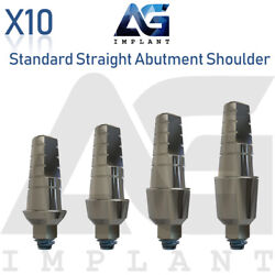 10 Standard Straight Abutment With Shoulder For Dental Implant Internal Hex $60.00