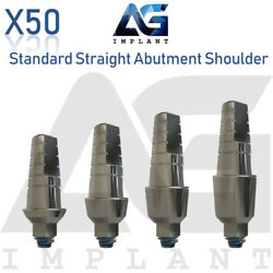 50 Standard Straight Abutment With Shoulder For Dental Implant Internal Hex $250.00
