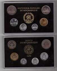 MOZAMBIQUE – RARE MINT SET 1980 YEAR 50 CENTAVOS - 20 METICAIS ONLY 1 YEAR ISSUE