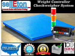 New 40 X 40 Floor Scale Check Weigher / Weight Control / Stag Light System
