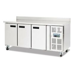 Polar Dl915 3 Door Counter Fridge With Upstand - Boxed New