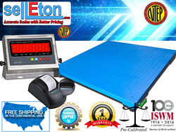 New Ntep 5and039 X 5and039 | 60 X 60 Industrial Floor Scale With Printer / 2500 X .5 Lb